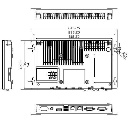 NV-2160 Dimensions