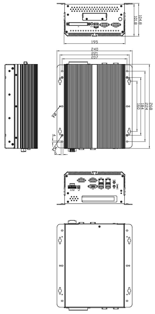 NV-2664C Dimensions